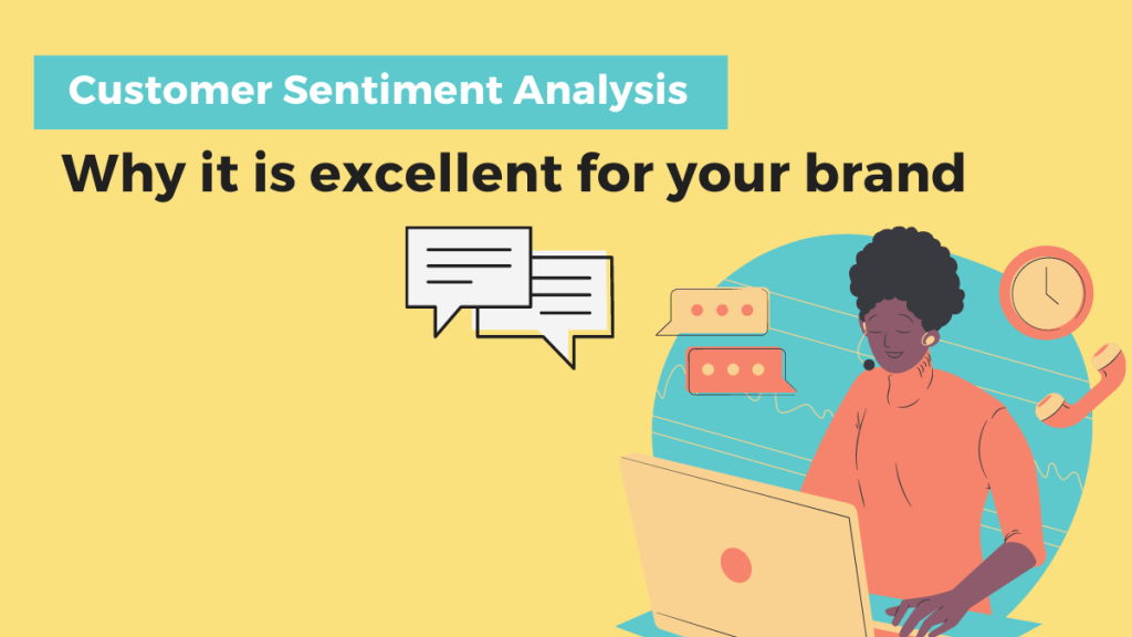 Customer sentimenti analysis. Girl messaging at a pc with headphones