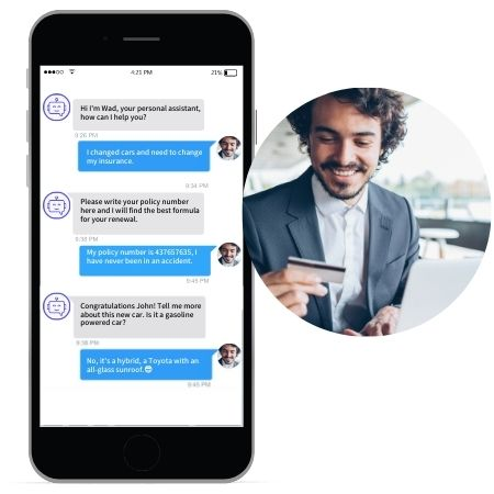 wad conversational chatbot for insurance
